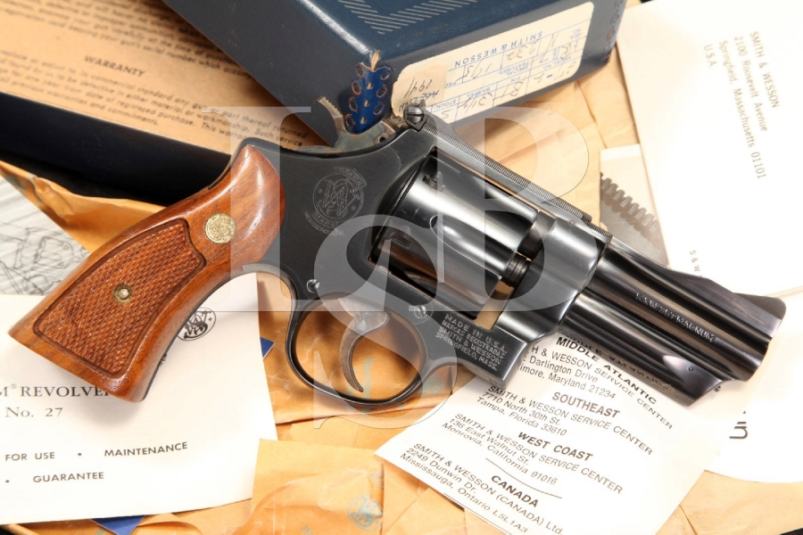 Smith & Wesson S&W Model 27-2 -- The .357 Magnum Mag. Double Action Revolver & Box