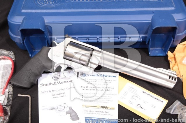 """Smith & Wesson S&W Model 460XVR 163460 & Box Stainless 8 3/8"""" Ported 5-Shot .460 mag Revolver"""
