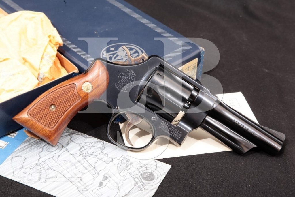 Smith & Wesson S&W Model 520 The 357 Magnum Military & Police, Blue 4″ SA/DA Double-Action Revolver & Box, MFD 1980 No Ca .357 Mag.