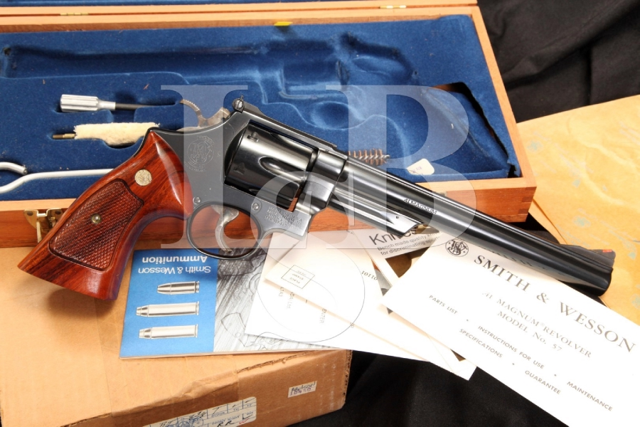 Smith & Wesson S&W Model 57 — The 41 Magnum Double Action Target Revolver & Case