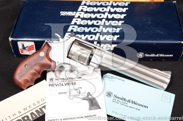 Smith & Wesson S&W Model 610 10mm, No Dash, 103576 Stainless 6 1/2″ Double Action Revolver & Box