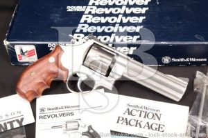 """Smith & Wesson S&W Model 610 No Dash 103578 & Box Stainless 5"""" Double Action Revolver 1989-1992 10mm"""