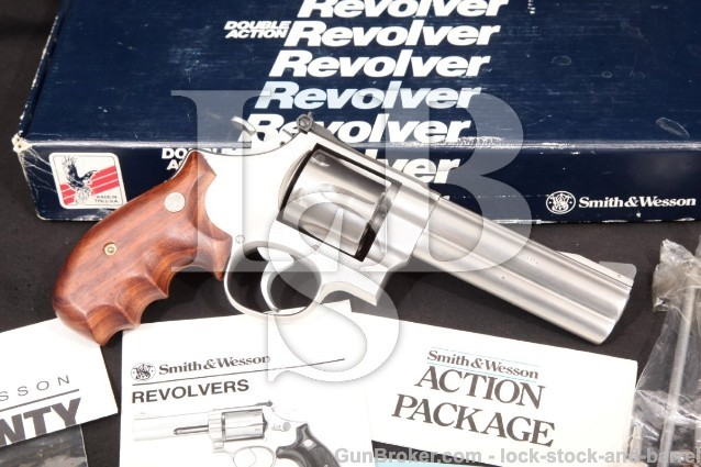 "Smith & Wesson S&W Model 610 No Dash 103578 & Box Stainless 5"" Double Action Revolver 1989-1992 10mm"