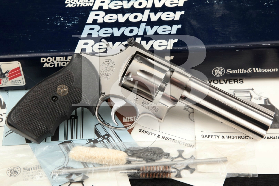 "Smith & Wesson S&W Model 625-2 The Model of 1988 .45, Stainless 5"" 6-Shot Double Action Revolver & Box, MFD 1989"