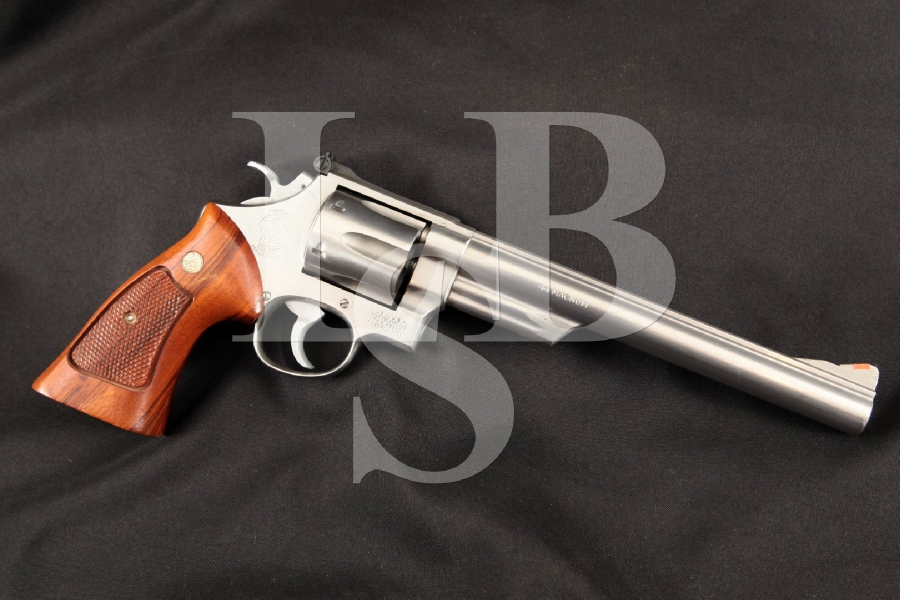 "Smith & Wesson S&W Model 629, 'The .44 Magnum', Scarce Brushed Stainless Steel 8 3/8"" 6-Shot DA/SA Double Action Revolver, MFD 1981"