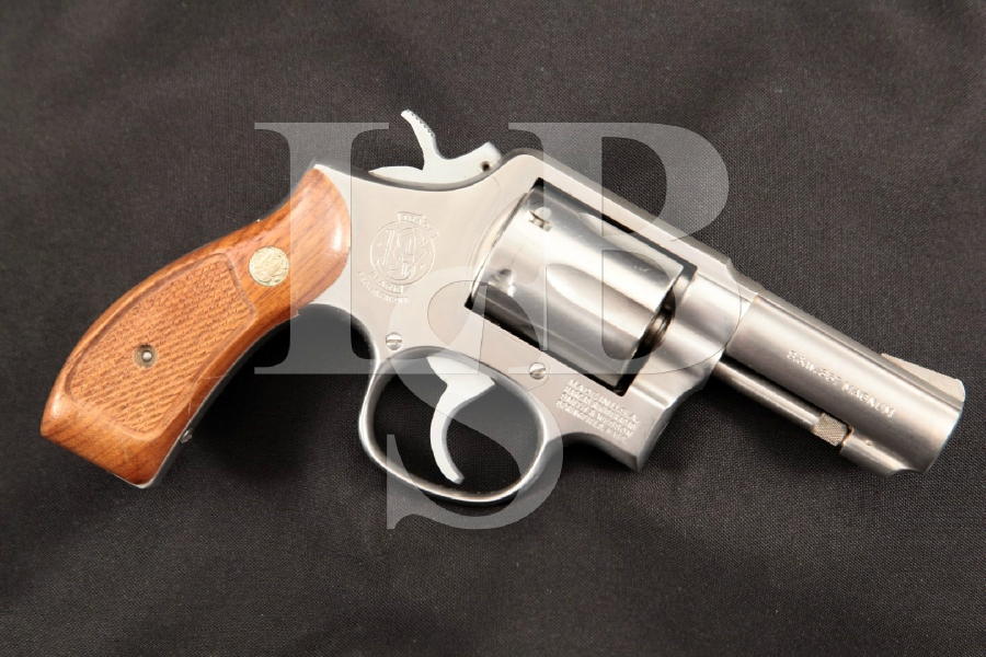 """Smith & Wesson S&W Model 65-2, The .357 Military & Police Heavy Barrel, Stainless 3"""" 6-Shot DA/SA Double Action Revolver, MFD 1981"""