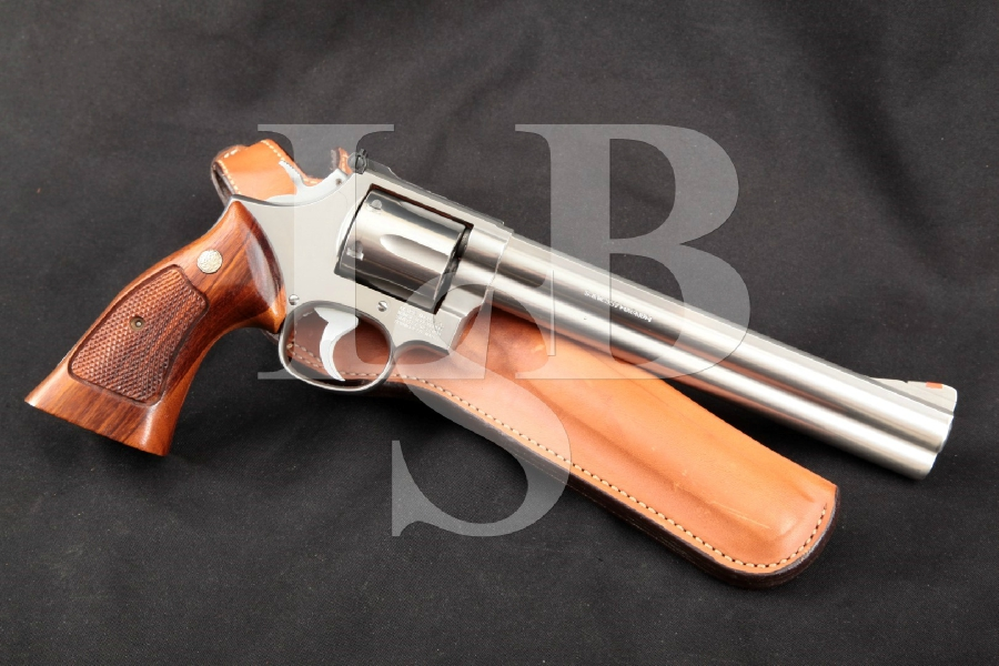 "Smith & Wesson S&W Model 686 'The .357 Distinguished Combat Magnum', Stainless Steel 8 3/8"" 6-Shot Double Action DA/SA Revolver, MFD 1984"