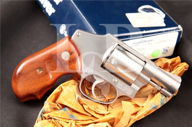 Smith & Wesson S&W Model 940 Stainless 2″ 9mm DAO Double Action Centennial Revolver & Box, 1991-98