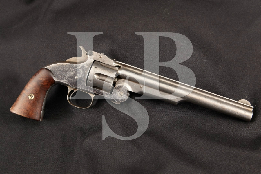 Smith & Wesson S&W No. 3 Russian 1st Model, Indian War-Era, Original Blue 8″ 6-Shot Single Action Revolver, MFD 1870's Antique