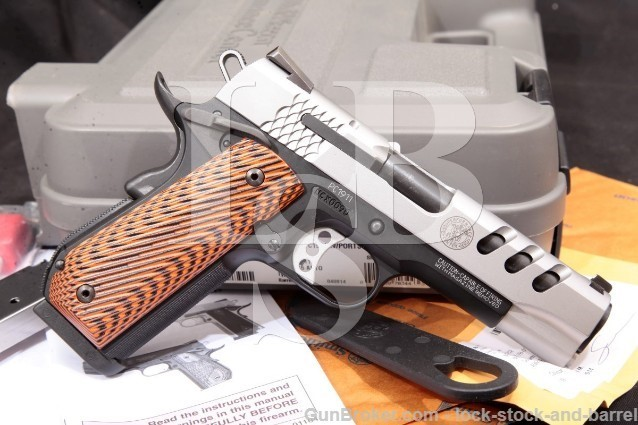 """Smith & Wesson S&W Performance Center PC1911 .45 170344 Stainless & Black 4.25"""" Pistol & Case 2014"""