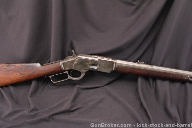 Special Order Winchester Model 1873 .44-40 WCF Half Round, Half Octagonal & Letter - 1882 Antique