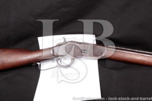 """Special Order Winchester Model 1873 .44 WCF, 1897 24"""" Lever Action Rifle, Set Trigger, Express Sight"""