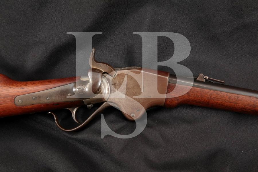 "Spencer 1865 Carbine, Stabler Cut-Off Model, Blue & Case Colored 20"" Lever Action Tube Fed Rifle, MFD 1865-1866 Antique"