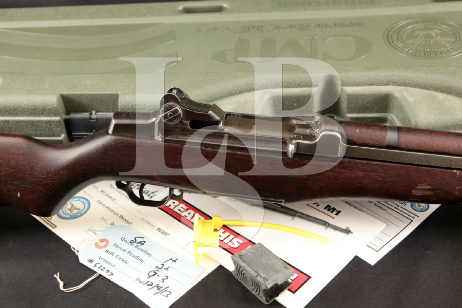 "Springfield Armory CMP M1 Garand SN#52297, Parkerized 24"" Military Semi Automatic Rifle & Case, MFD 1940 C&R"