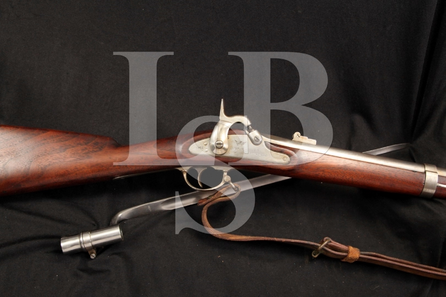 Springfield Armory Model 1861 Percussion Rifle – Musket, MFD Trenton NJ Contract – Antique