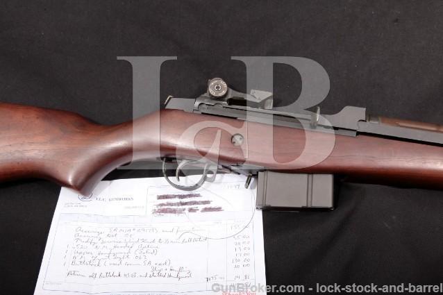 Springfield Armory T.L.C. Gunworks Custom M1A .308 Parkerized 22″ Semi-Automatic Rifle, MFD 1995