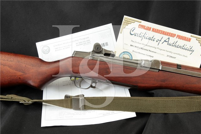 Springfield M1 Garand 7.62 NATO Navy Mk2 Mod 0 CMP Documented Bruce Canfield Collection, MFD 1945 C&R