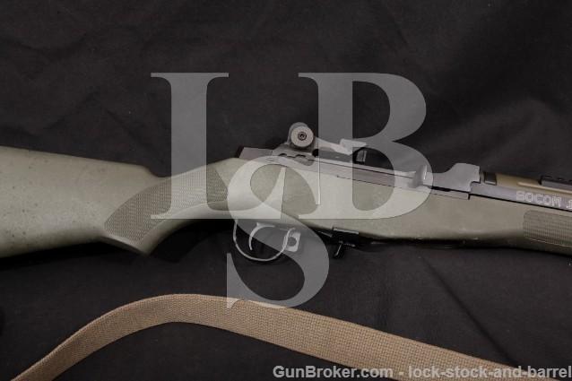 "Springfield M1A SOCOM 16 Parkerized 16 1/4"" .308 Semi-Auto Rifle & Sling, Green Stock Modern"