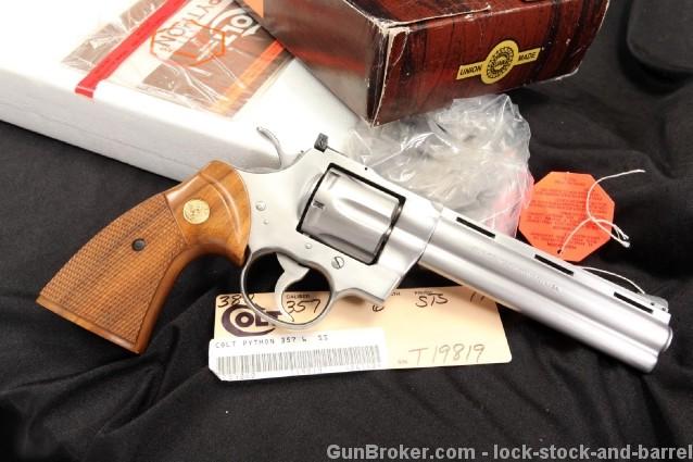 "6"" Stainless Colt Python 357 Magnum Revolver & Box"