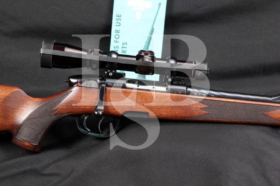 "Steyr Mannlicher Model SL S.L. (Super Light) Full Stock, Blue 20"" Bolt Action Hunting Rifle & Leupold Scope MFD 1994"