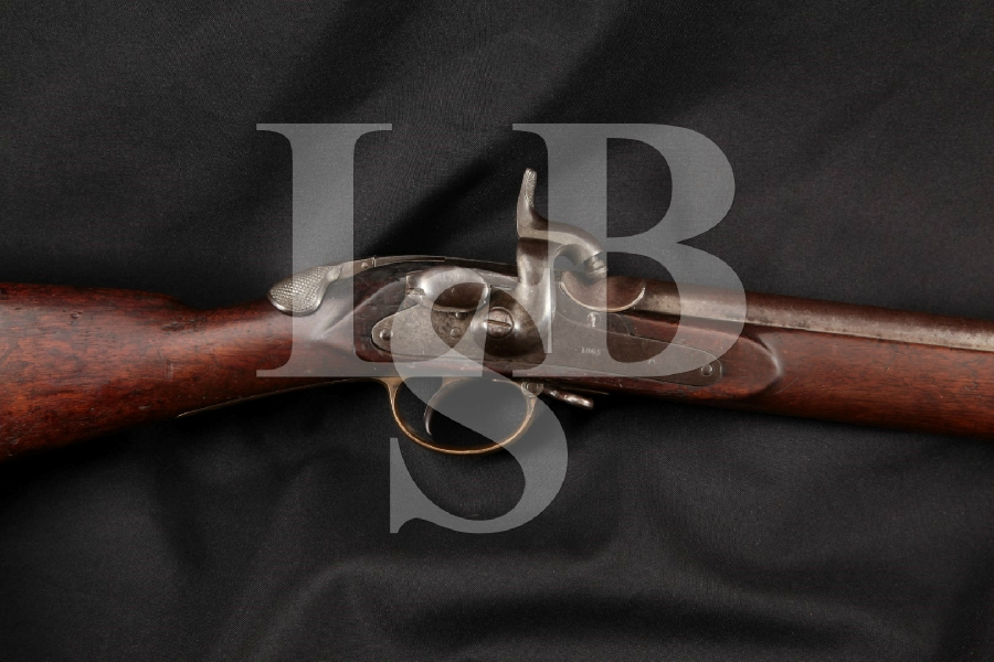 "Thomas Wilson 1859 Late Pattern, As used by Confederate Forces, Blue & Brown 33"" Single Shot Breech Loaded Rifle, MFD 1865 Antique"
