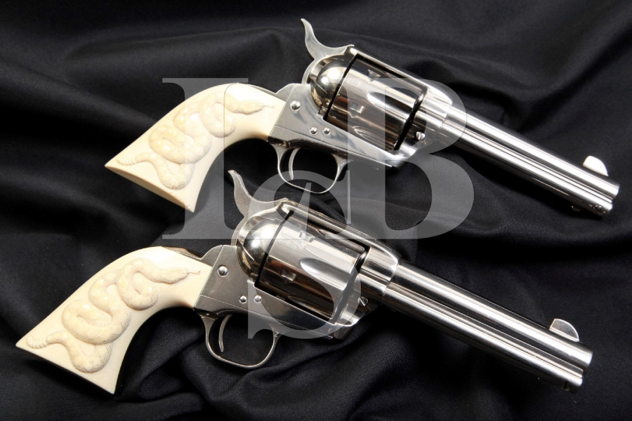 Tuned & Matched Pair of 3rd Generation Colt SAA Single Action Army Revolvers, Paul Persinger Grips