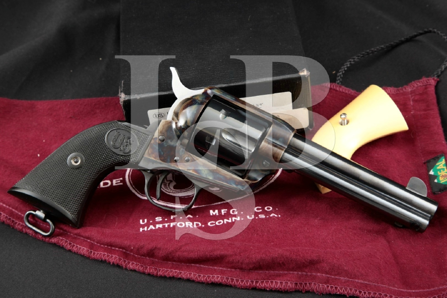 U.S. Fire-Arms Mfg. Co. .45 Colt SAA, Blue & Case Colored 4 ¾ In. Single Action Army Revolver & Box, MFD 2009-2011
