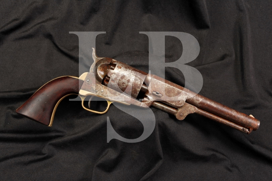 U.S. Marked Martial Colt 1848 3rd Model Dragoon 44 Percussion Revolver – Antique