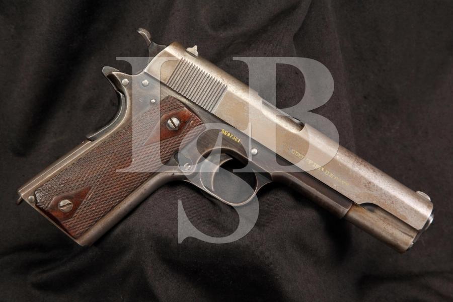 U.S. Navy Colt Model 1911 .45 ACP Semi Auto Pistol, MFD 1914 C&R