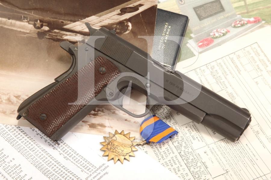 US Army Ithaca Model 1911A1 Bringback USAF .45 ACP Semi Auto Pistol, C&R
