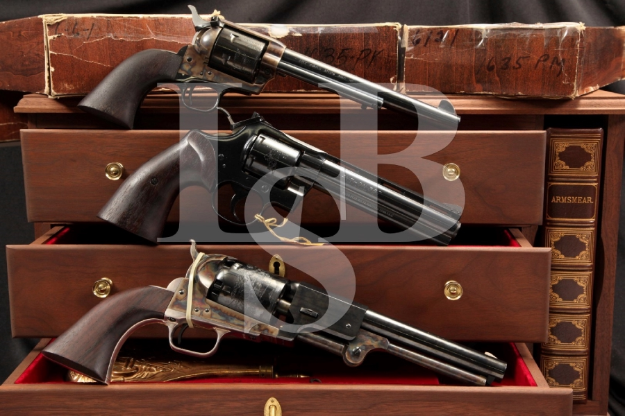 US Bicentennial Cased Colt Set Python, Single Action Army & Dragoon Revolvers C&R