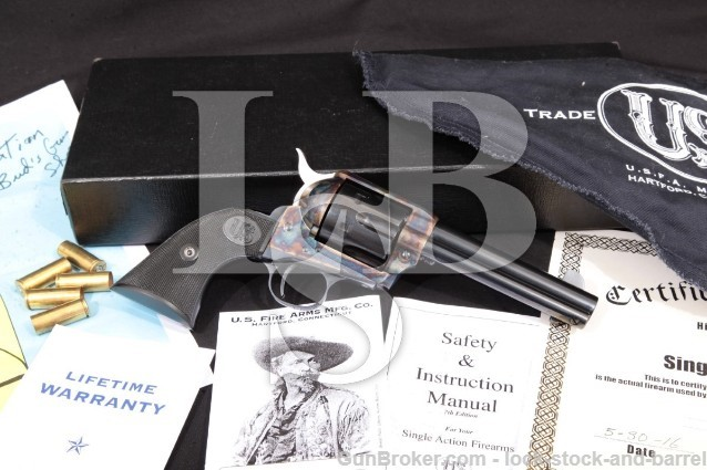 USFA Mfg. Co. Single Action Army 4 3/4″ .45 Colt 100% U.S. Made Revolver, MFD Ca. 2010