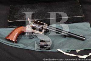 "USFA Single Action Army SAA Convertible .45 ACP Blue & Case 7 1/2"" Revolver & Box, Modern .45 Colt"