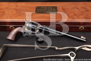 "USFA Wyatt Earp Buntline 10"" Turnbull 1999 45 Colt SAA Single Action Revolver Skeleton Stock & Case"