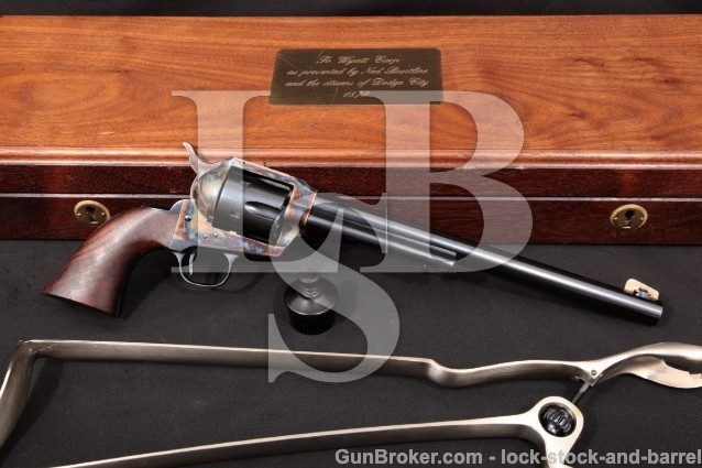 USFA Wyatt Earp Buntline 10″ Turnbull 1999 45 Colt SAA Single Action Revolver Skeleton Stock & Case