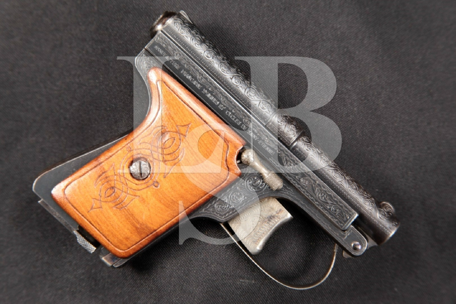 "VERY RARE Manufacture Francaise D'Armes Manufrance Modele de Poche No. 4 820 Series, Blue 2-3/8"" Tip-Up Semi-Automatic Pistol, MFD 1940s-1964 C&R"