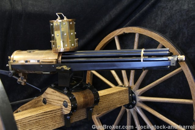 Valley Engraving LLC .22 LR Colt 1878 Gatling Gun 2x 100 Rnd Magazines, 10 Barrels, Carriage