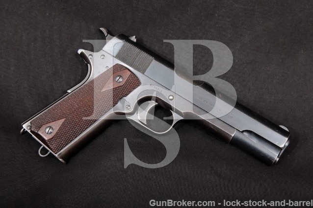 "WWI Colt 1911 Government Model U.S. Army .45 ACP Blue 5"" SA Semi-Automatic Pistol, MFD 1914 C&R"