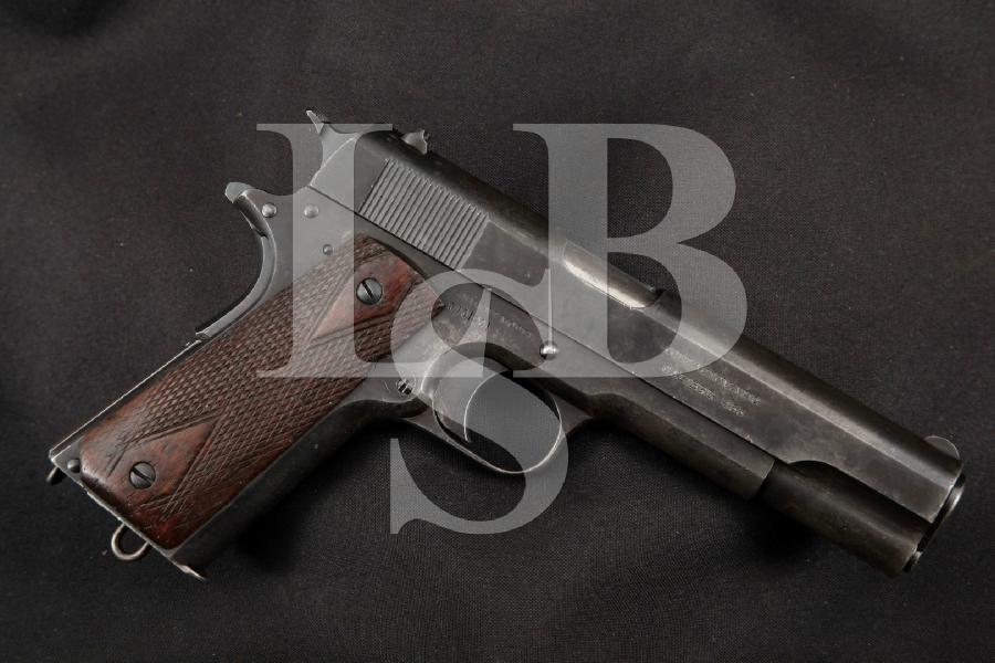 "WWI Colt Model 1911 M1911 British & Canadian Marked, Blue 5"" SA Semi-Automatic Pistol MFD 1917 C&R"