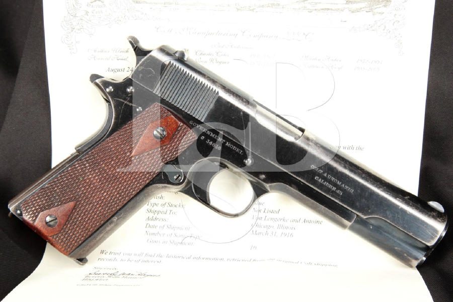 Pachmayr Colt 1911 Grip Double Diamond Checkered Wood Full Size Gvmt
