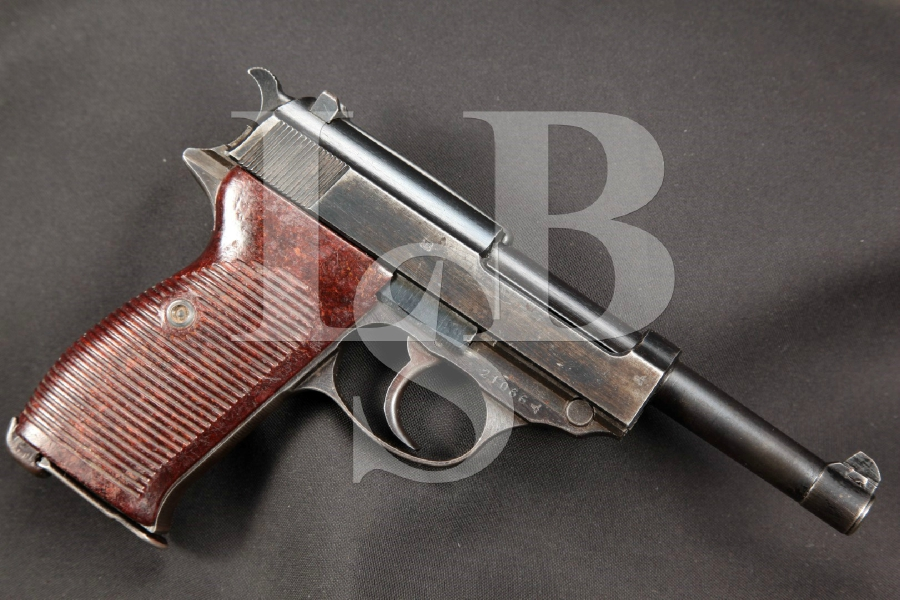 """WWII Walther Model HP """"Heeres Pistole"""" (P38) Waffenamt MArked, Matching Numbers, Blue 4.9"""" Nazi DA Semi-Automatic Pistol, MFD 1942-44 C&R"""