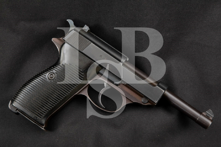 "Walther Model P38 P-38, Nazi ac-42 Marked, 2nd Variation, Matching Numbers, Blue 5"" WWII DA Semi-Automatic Pistol, MFD 1942 C&R"