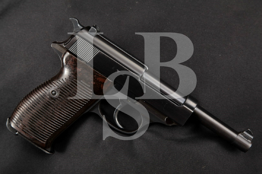 "Walther Model P38 ac-40 1st Variation Nazi Marked, Blued 5.0"" RARE DA Semi-Automatic Pistol, MFD 1940 C&R"