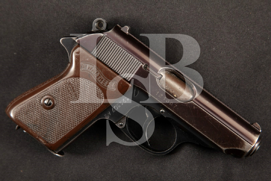 "Walther Model PPK, West German Produced, Blue 3 ¼"" SA/DA Semi-Automatic Pistol, MFD 1967"
