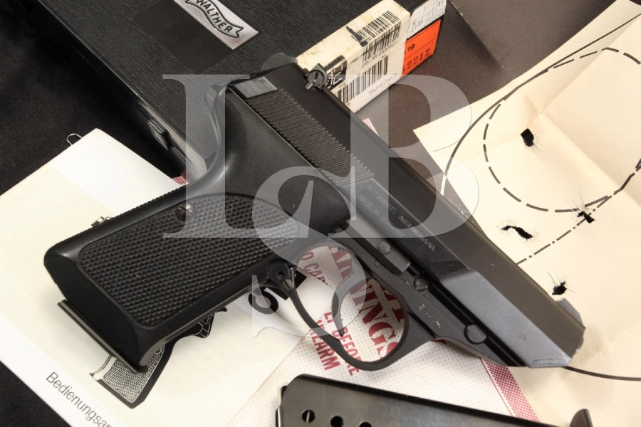 Walther P5 Compact DA/SA Double / Single Action 9MM Semi Automatic Pistol In The Box, Extra Magazine