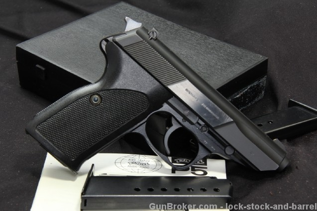 Walther P5 9mm Semi-Auto Pistol & Mags, In the Box
