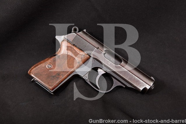 """Walther PPK Police Marked K Series Blue 3 1/4"""" C&R Semi Auto Pistol, 1941 7.65mm .32 ACP"""