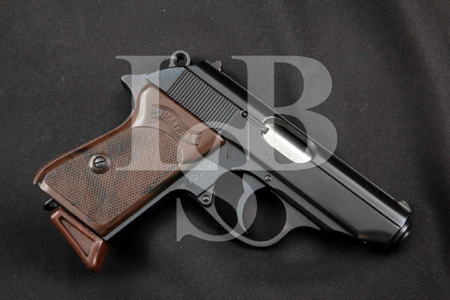 Walther (West German) Model PPK, SHARP Blue 3 3/8 In. .380 Auto Double Action DA Semi-Automatic Pistol, MFD 1966
