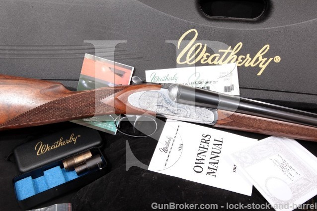 """Weatherby Fausti, Athena D'Italia, Blue & Coin 28"""" Engraved Boxlock SXS Side-By-Side Shotgun 2005"""