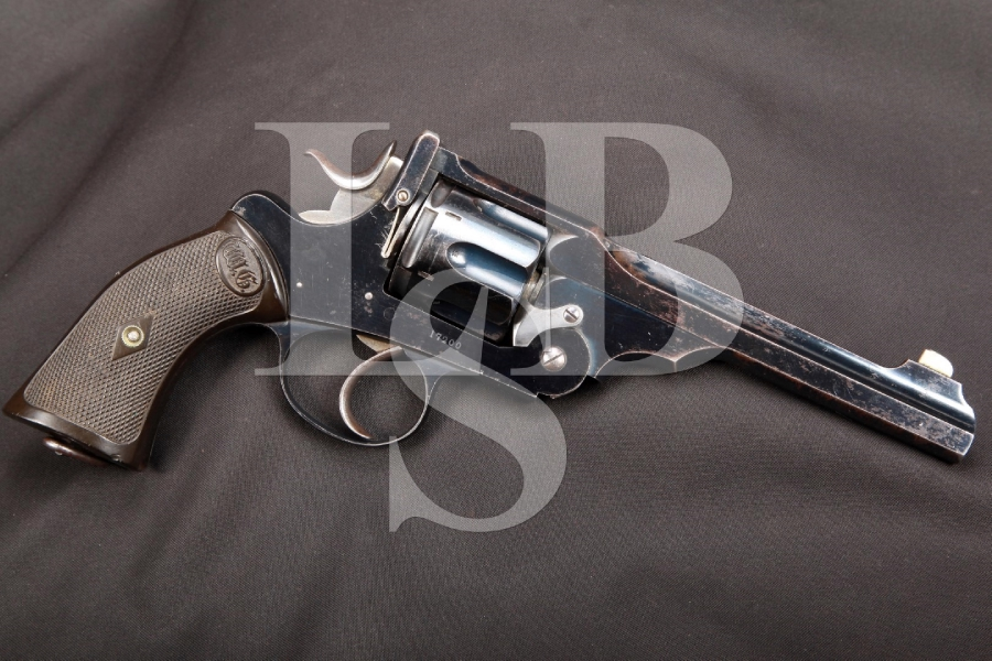 Webley & Scott W.G. Government Army Model of 1896 6 INCH Blue Double Action Revolver, MFD 1902 C&R